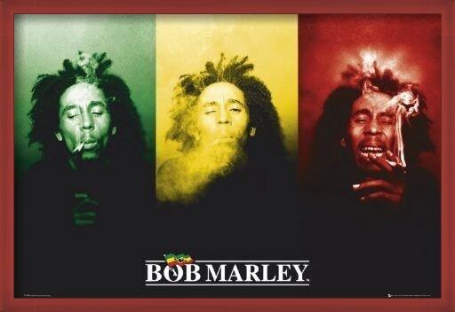 Juliste  Bob Marley - flag