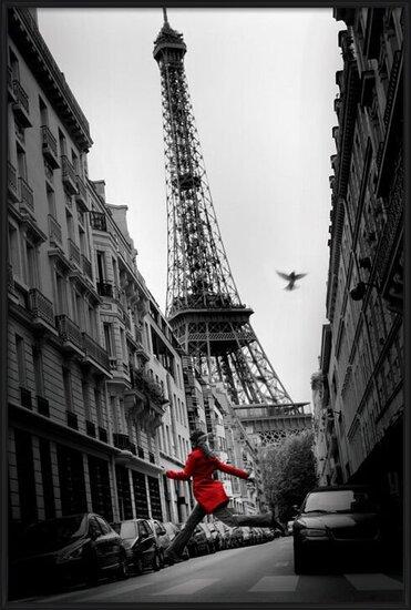 Juliste Pariisi - la veste rouge