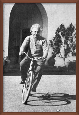 Juliste  Albert Einstein – ride on bike