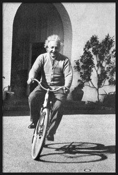 Juliste Albert Einstein – ride on bike