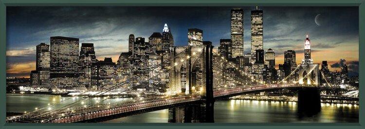 Juliste  Manhattan - night and moon
