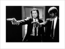 Pulp Fiction - guns b&w